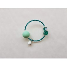 Tia Teal Silicone Beaded BFRB spinner bracelet - child size