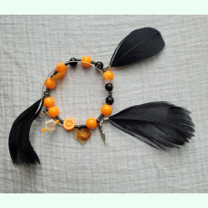 The Keeper Belled Feather Bracelet