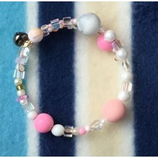 Penny Pink Hearts and Flowers bracelet