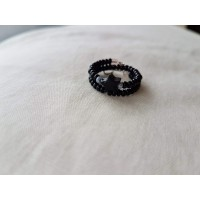 Black On Track Star Ring