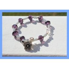 purple and grey pupillary flower bracelet
